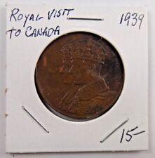 1939 Royal Visit To Canada King George VI British Royalty Pin Button Badge Medal