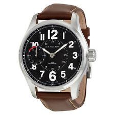 Hamilton Khaki Field Mechanical Black Dial Brown Leather Mens Watch H69619533