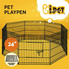 """i.Pet 24"""" 8 Panel Pet Dog Playpen Puppy Exercise Cage Enclosure Fence Play Pen"""