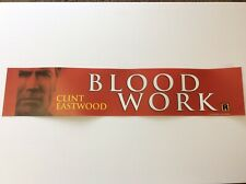 """2002 Clint Eastwood """"BLOOD WORK"""" Movie Theater Mylar"""