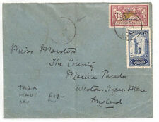 AK156 1926 French Colonies Morocco TAZA HAUT scarce origin CDS Somerset Cover