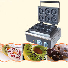 110V Electric 6pcs Mini Doughnut Baker Donut Maker Donut Making Machine Us