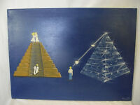 Bettina Ulitzka,Stufenpyramide, Ölgemälde