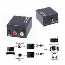 Digital to Analogue Audio Converter & Toslink Cable,Optical to RCA Stereo Analog