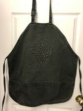 New listing Healdsburg Sonoma County Green 100% Cotton Canvas Unisex Cooking Apron Made Usa
