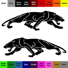 Cat Panther Sticker 2 Pack Predator Feline Cat Decals
