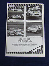 SHELL GEMINI F3 OPEN RALLY TOURING CARS RALLYCROSS ADVERT READY T FRAME A4 SIZE
