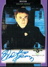 BABYLON 5 SEASON 5 AUTOGRAPH CARD A03 WALTER KOENIG AS BESTER
