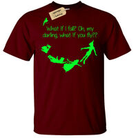 WHAT IF I FALL OH MY DARLING WHAT IF YOU FLY T-Shirt Mens peter pan