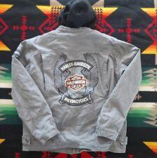 Harley Davidson Men's Road Warrior 3-in-1 Cotton Canvas Jacket Medium / Hoodie