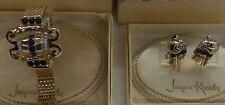 VINTAGE 1950's BRACELET AND EARRING SET JACQUES KREISLER IN ORIGINAL BOXES