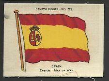 More details for ardath - flags 4th series (silk) - #23 spain, ensign, man of war