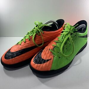 Nike Hyper Venom X Neon Orange Green Astroturf Football Shoes Boots Mens Size UK