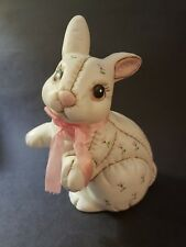 Vintage GEO Z  Lefton China Patchwork Floral Bunny Rabbit Bunny Easter