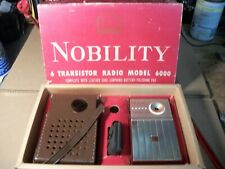 Rare NOBILITY 6000 Vintage Transistor Radio Japan In Original Box Works With ACC