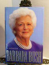 VG SIGNED with Photo Barbara Bush A Memoir First Lady Wife of George Mother GW