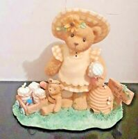 """1999 Cherished Teddies Lydia """"YOU'RE THE BEES KNEES!"""" Limited Ed. Figurine"""