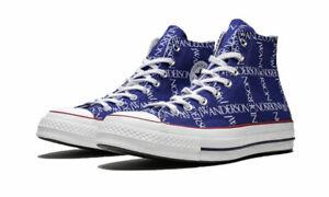 CONVERSE X J.W. ANDERSON Unisex Blue Chuck 70 Hi Shoes NIB