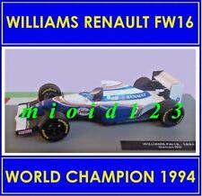 1/43 - WILLIAMS RENAULT FW16 : Damon HILL - WORLD CHAMPION 1994 Diecast FORMULA