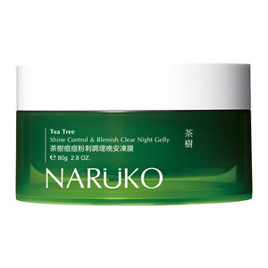 Naruko Tea Tree Shine Control & Blemish Clear Night Gelly 80g Acne Treatment