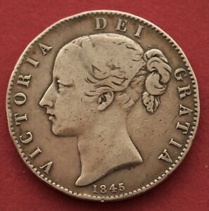 YOUNG HEAD VICTORIA CROWN 1845 CINQUEFOIL STOPS