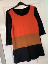FAB LADIES NEXT BLACK MULTI BLOCK JUMPER DRESS UK SIZE 16 GREAT CONDITION