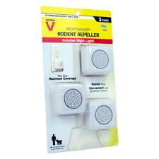 New!! Victor PestChaser Plug-In Electronic Pest Repeller For Rodents 3 pk M753K