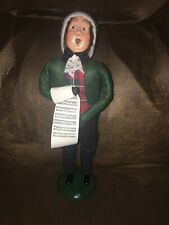 Byers Choice Caroler 1993 Adult Man with Sheet Music Signed Byers