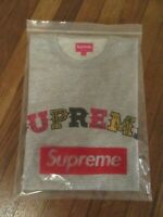 Supreme Plaid Applique S/S Top Size Large Heather Grey FW20 Supreme New York DS