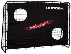 Hudora 76923 extra stabiles Fußballtor Trainer Tor mit Torwand 213 x 152 cm