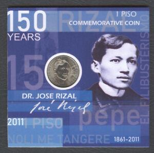 2011 Philippine Piso JOSE RIZAL 150 Years Birth Anniv Commemorative Coin