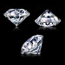 8MM 3.05Ct White Sapphire Round Circular Cut Shape AAAAA VVS Loose Gemstone