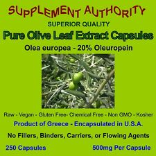 Olive Leaf Extract Powder Capsules - 20% Oleuropein - Just Manufactured & FRESH!