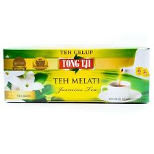 2 packs x25 teabags Teh Melati Tong Tji, Green Tea Leaves + Jasmine Flower