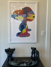 KAWS Snoopy Puzzle No ONES HOME COMPLETE, GLUED, & FRAMED. 24 x 36(ReadDetails)