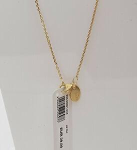 GOOIX Silber 925 vergoldet Damen Kette Ankerkette Karreekette 45 cm gold NEU 244