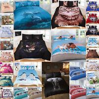 3D Duvet Cover Sets Animal Print Bedding PillowCases King Size Double Single New
