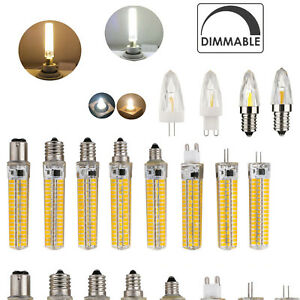 G4 E12 G9 E14 E17 B15 GY6.3 LED Dimmable Bulb Silicone Glass Crystal Light Lamp