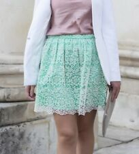 ZARA New Light Green Floral Mini With Lace Skirt Sold Out Bloggers  Medium M