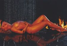 ANGELINA HEGER 6 Playboy Foto 13x18 original signiert IN PERSON Autogramm