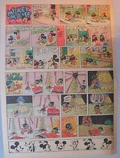 Mickey Mouse Sunday Page by Walt Disney from 10/12/1941 Tabloid Page Size