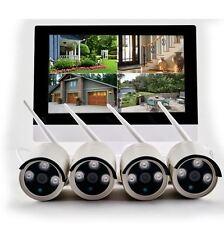 Kit videosorveglianza IP WIFI con 4 telecamere 960P 1,3 Mpx e monitor 10 pollici