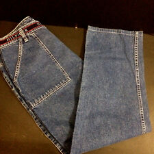 Vtg Tommy Hilfiger Jeans 12 Spell Out Waist Tapered High Rise Mom 90's Tab Logo