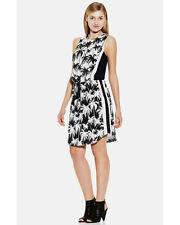 NWT $149 Vince Camuto Women's Shift Dress Size 8 Palm Trees Black & Whit.SZ:10