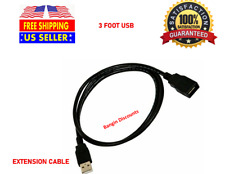3FT USB 2.0 Male A to Female A Extension Data Charger Cable Cord Adapter M/F