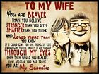 """To My Wife Sign 9"""" x 12"""" or 12"""" x 16"""""""