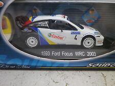 SOLIDO RACING FORD FOCUS WRC RALLYE 2003 n° 1593 état Neuf en boite