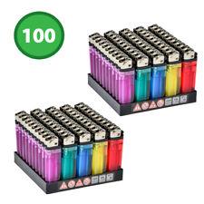 100 Accendini a Pietrina Trasparenti Colorati 2 pacchi