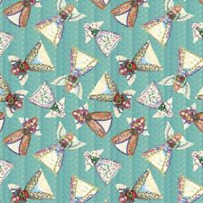 "$7 Per Yard Jim Shore ANGEL TOSS Blue Quilt Fabric 43/44"" Wide"