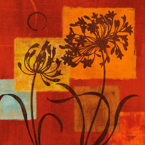 Warm Thoughts IV Abstract Floral Art Paper, Canvas or Stretched Canvas Print